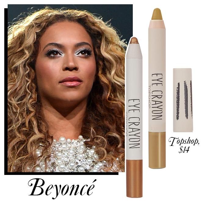 Beyoncé wears Topshop eyeliner onstage