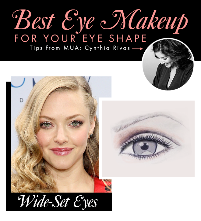 Makeup for wide set eyes