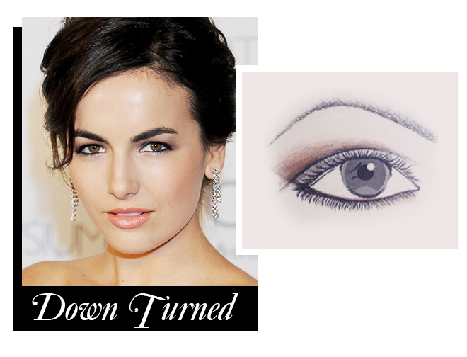 Makeup for down turned eyes