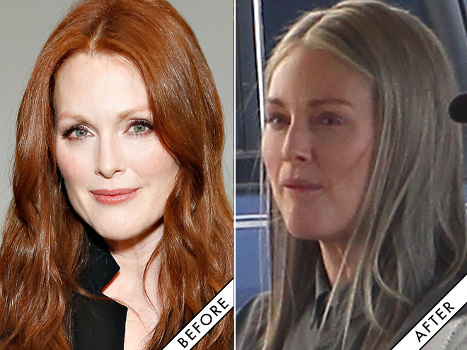 Julianne Moore: before and after