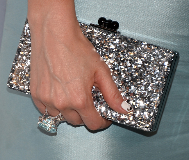 Zooey Deschanel nail art Emmys 2013