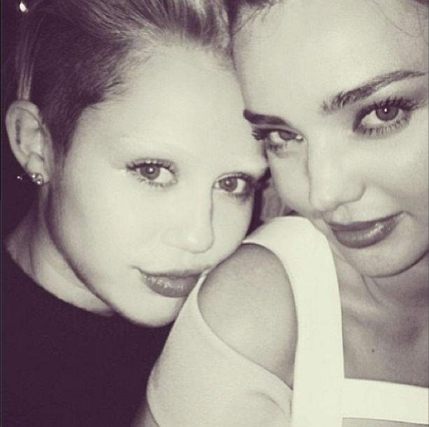 Whoa! What happened to your eyebrows, Miley?