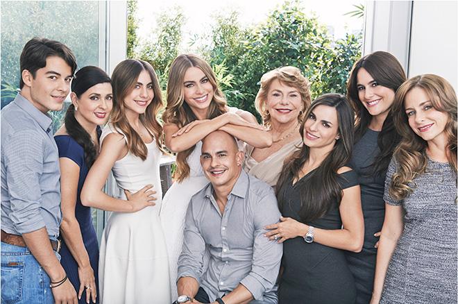 Sofia Vergara and her family