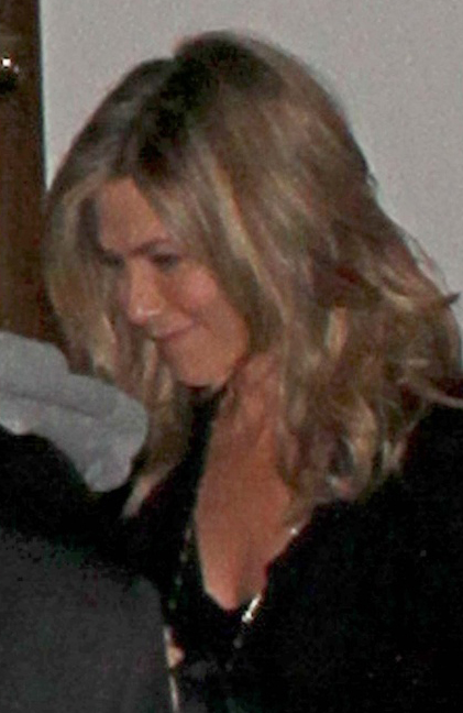 Jennifer Aniston and Ellen DeGeneres attend the birthday celebrations of Portia de Rossi at Crossroads restaurant in West Hollywood