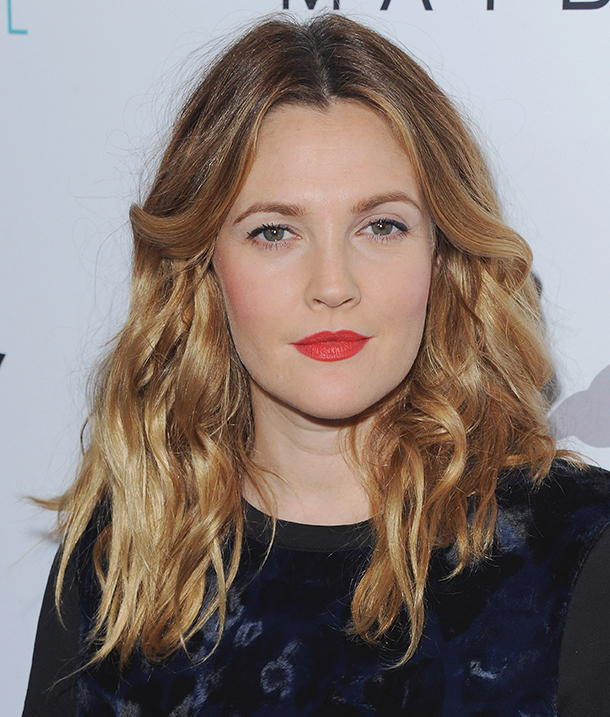 drew barrymore curly hair