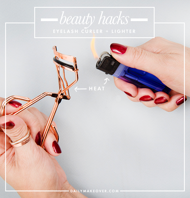 eyelash curler beauty hack