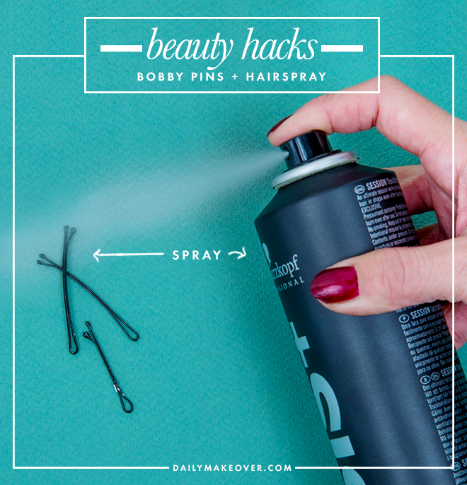 bobby pins beauty hack