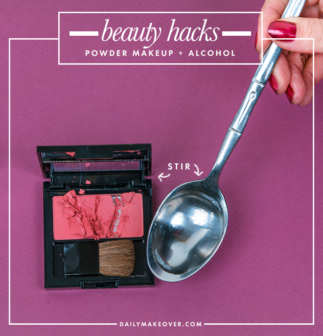 broken blush beauty hack