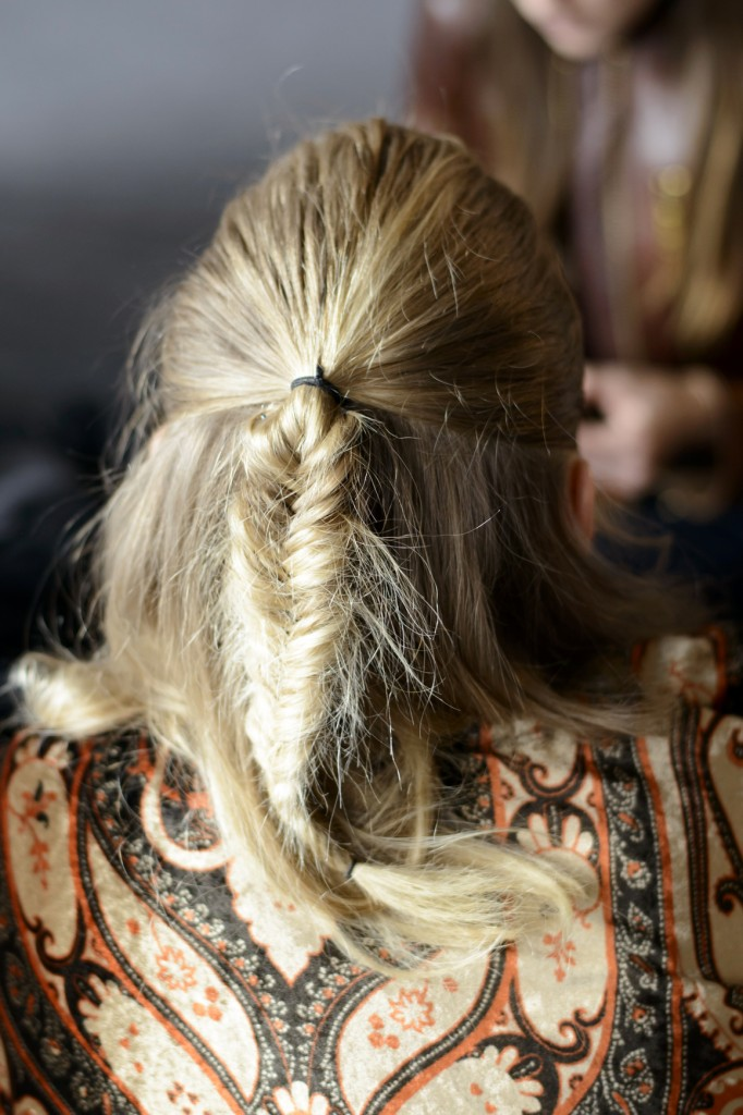 fishtail braid holiday hairstyle