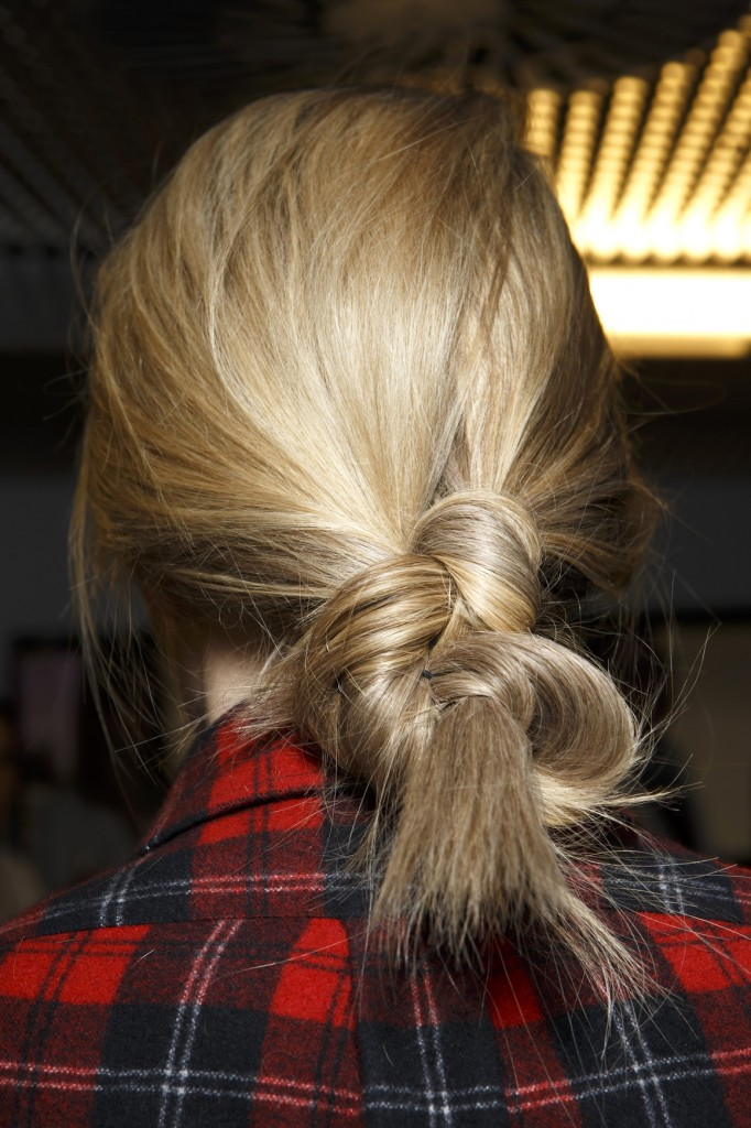 messy bun holiday hairstyle