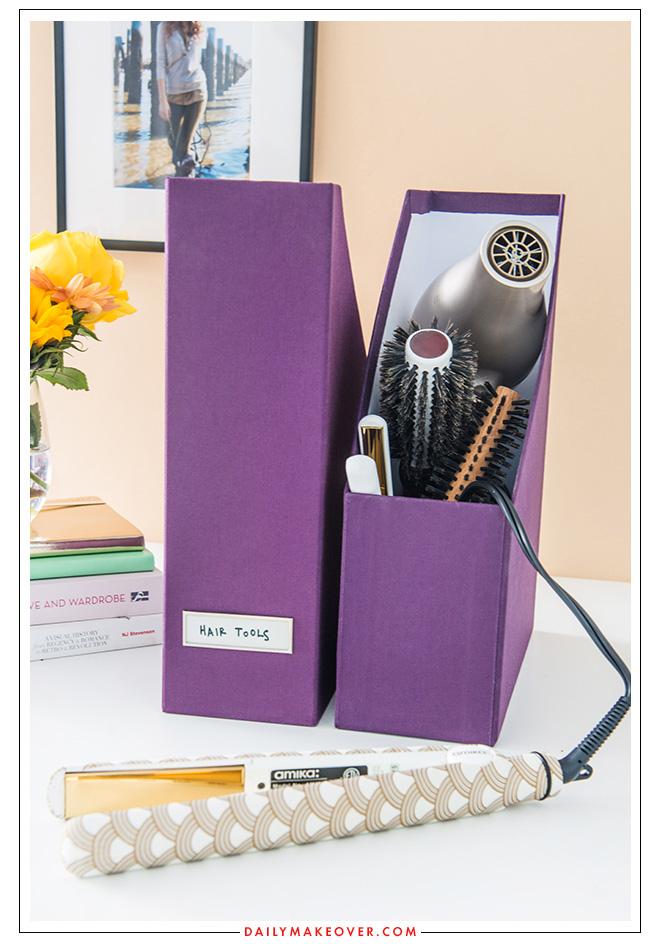 hair tools beauty product organization