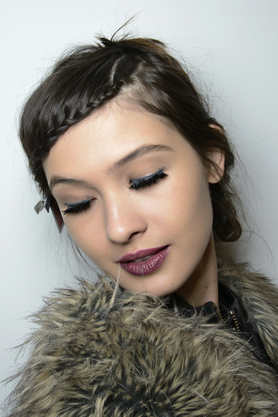 how to french braid your bangs