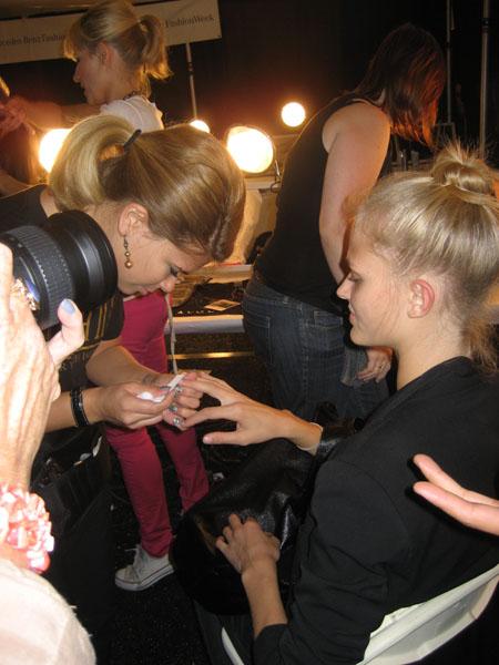 Ballet buns at Charlotte Ronson