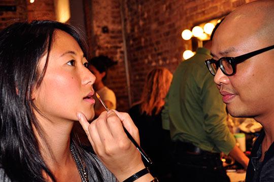Chris Benz Spring 2010 collection - Lancme lead makeup artist Daniel Martin