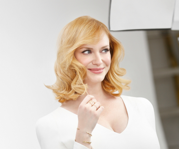 Christina Hendricks nice'n easy blonde 1