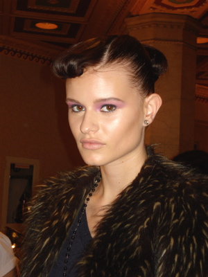 Fashion Week Spring 2010 Cynthia Rowley backstage makeup