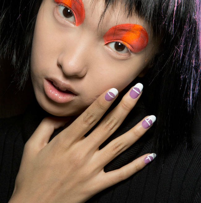 french manicure jeremy scott