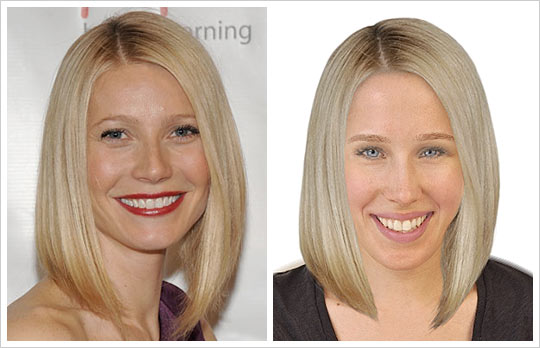 Gwyneth Paltrow hair makeover look