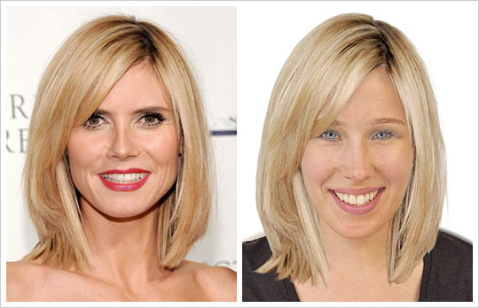 Heidi Klum hair makeover look