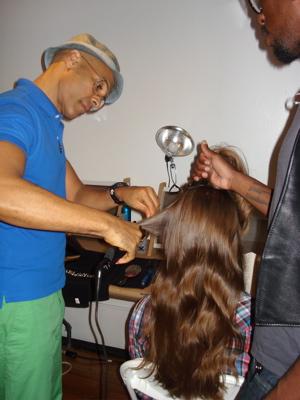 Fashion Week Spring 2010 Karen Walker backstage hair