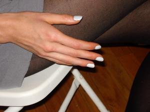 Fashion Week Spring 2010 Karen Walker backstage nails