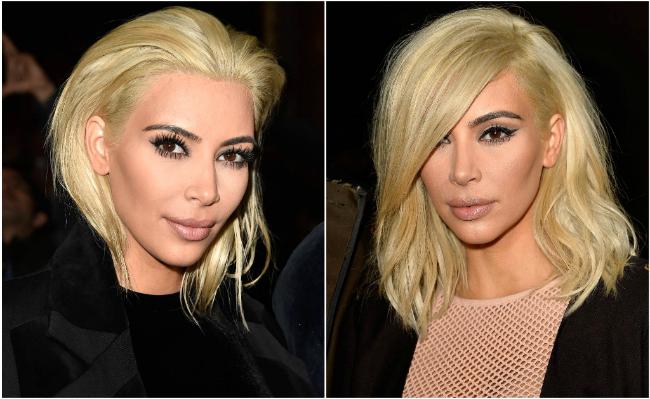 Kim Kardashian Blonde 2015