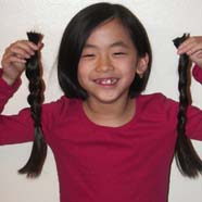 a new Locks of Love donor