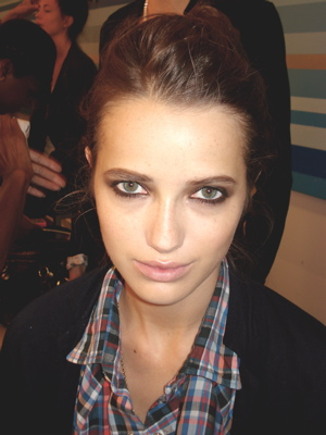 Fashion Week Spring 2010 Norma Kamali backstage makeup