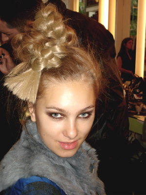 Fashion Week Spring 2010 Norma Kamali backstage hair