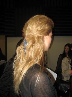 Fashion Week Spring 2010 Rag & Bone backstage hair