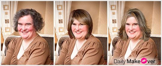 Susan Boyle Makeover Before After