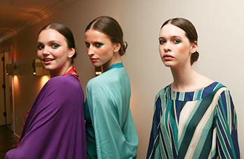 Models at Issa London Resort 2010 show