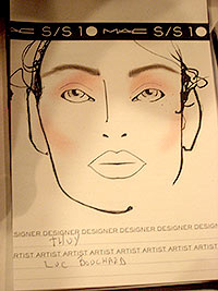 Thuy - Mac Face Chart - New York Fashion Week spring 2010