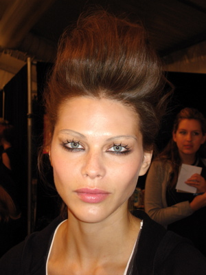 Fashion Week Spring 2010 backstage Tracy Reese makeup
