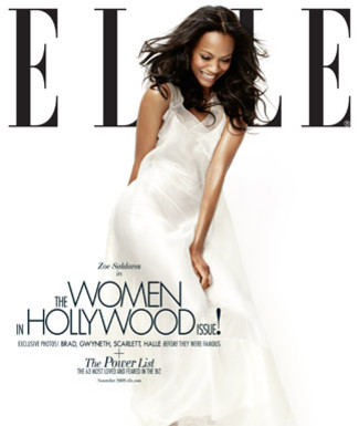 zoe saldana elle cover Zoe Saldana On The Cover Of ELLE