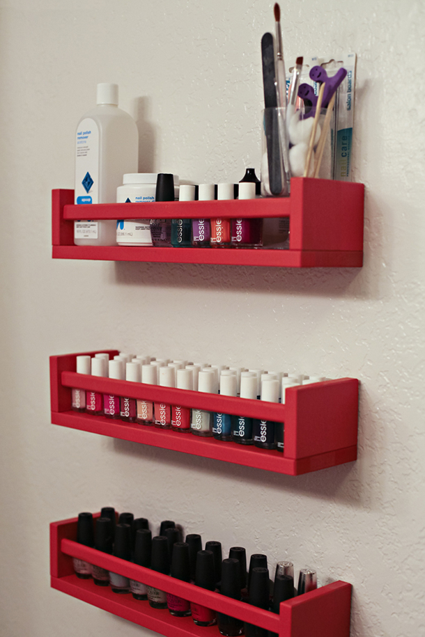 You Can Make This Cute Colorful Nail Polish Organizer For Around 5 Sold