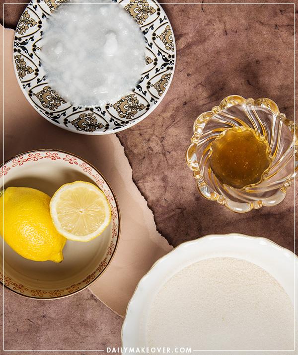 diy honey lemon sugar scrub recipe
