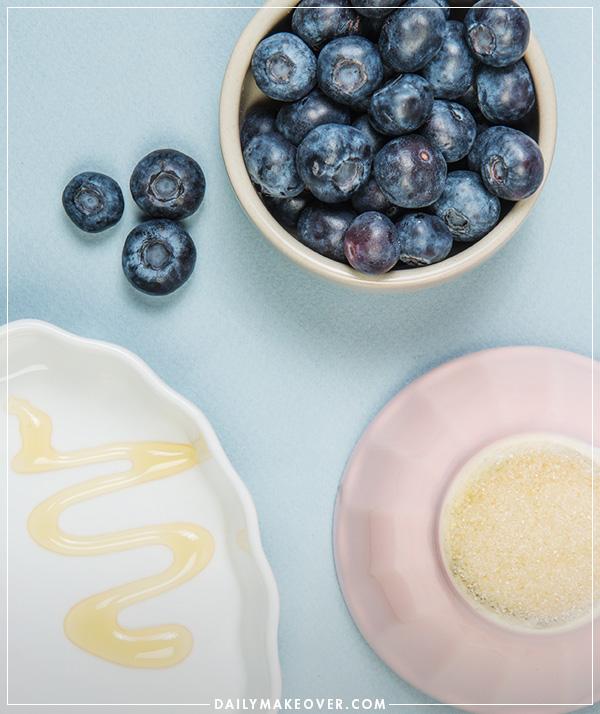 diy blueberry face scrub recipe