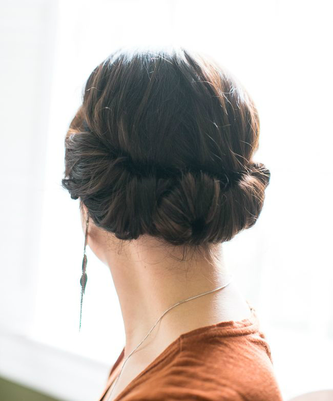 How To Style A Twisted Updo With A Headband Stylecaster