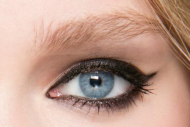 black eyeliner smudged