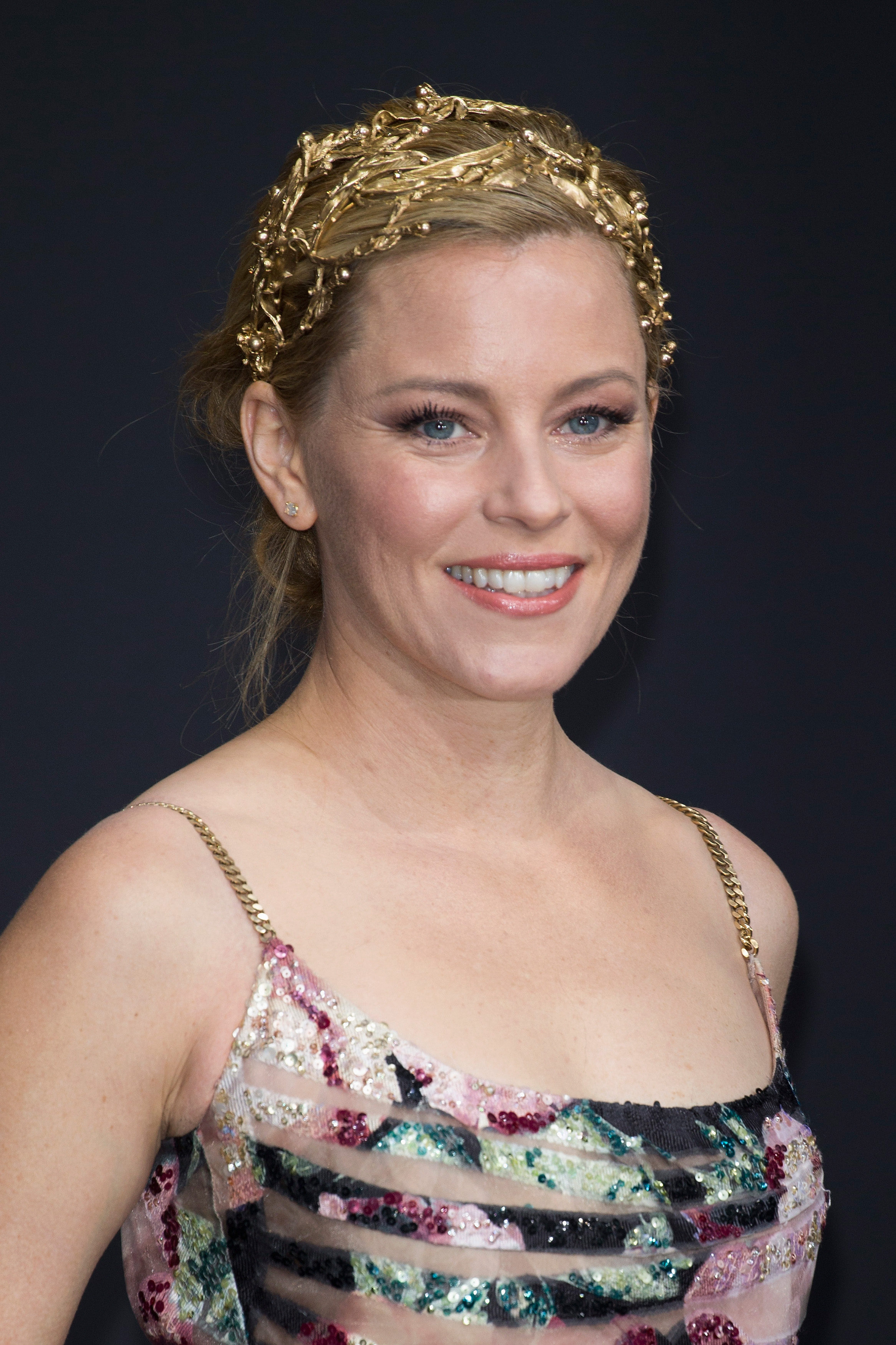 elizabeth banks gold headband