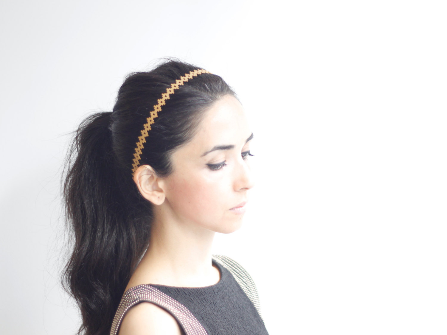 gold geometric headband