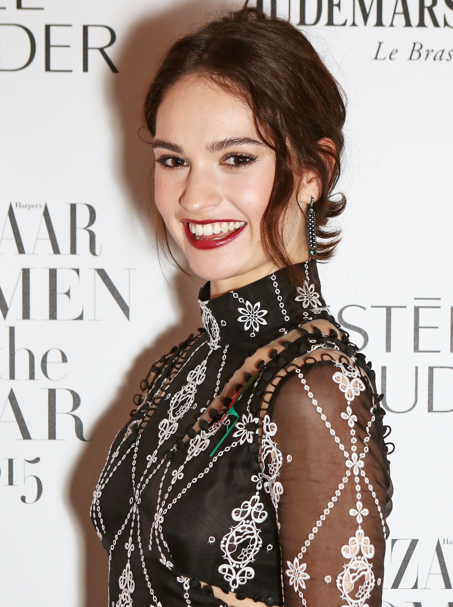 News: Lily James' Favorite Lipstick Tricks for the Perfect DIYManicure