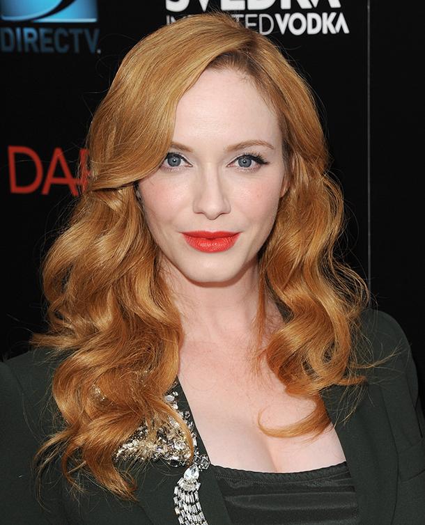 christina hendricks red hair